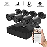 LaView 16 channel 4K home security system with 8 8MP 4K Bullet Cameras, 4TB Storage - Outdoor weatherprood IP Poe Surveillance cameras, 100ft Night Vision - LV-KNG966168G8-T4