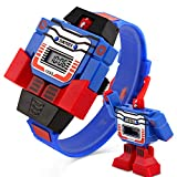 Kids Transformer Watch Robot Transformers Toys Digital Watch, Boys Cartoon Hero Amazing Watches, Girls Electronic Learning Gifts