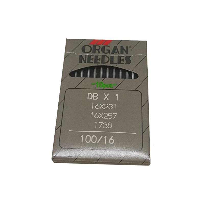 YICBOR Industrial Lockstitch Sewing Needles for Organ, DBX1 16X231 16X257 1738, 5Sizes to Choose (DBX1 100/16)