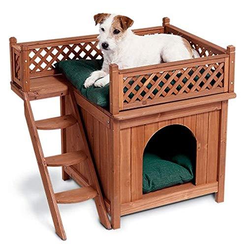 WLDOCA Indoor Holz Hund/Katze-Haus Den, Holz Zwinger für Ihre Katze oder Dog.with eine Dachterrasse und gemütliche Schlafzimmer, Haus für Katzen und Hunde.