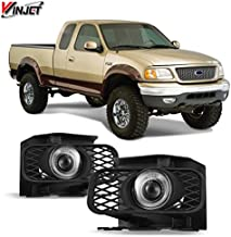 Winjet Compatible with Ford [1999-2003 F-150] [1999 2000 2001 2002 Expedition] Driving Halo Ring Projector Fog Lights