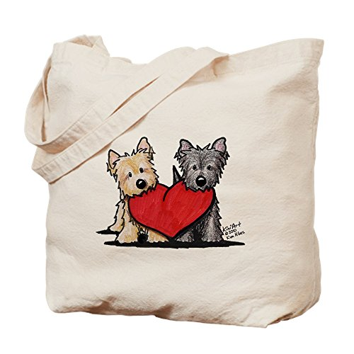 CafePress - Cairn Terrier Heartfelt Duo - Natural Canvas Tote Bag, Cloth...