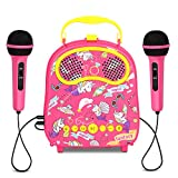 Kids karaoke machine 2 microphones wireless karaoke microphone portable carry bag Includes Voice