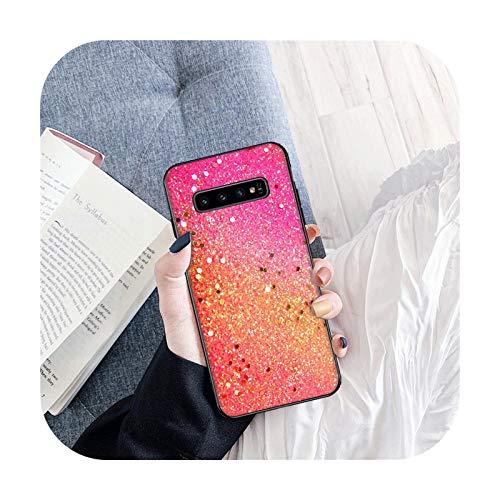 Brillante Exquisita funda de teléfono para Samsung S6 S6 Edge S7 S7 Edge S8 Plus S9 Plus S10E S10 Lite S10 Plus Funda suave TPU Back-B5-para Samsung S10