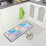 Galaxy Opal Moon Sun - Tappetino da cucina anti-fatica confortevole, antiscivolo, per ingresso e scrivania, 50 x 99 cm, tappetino da bagno 50 x 99 cm
