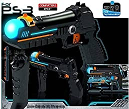 Precision Light Shot Gun Motion Controller for Sony Playstation PS3 Move Shooting Game Black