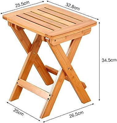 LXF 折り畳みテーブルナチュラルバンブーリビングルームバルコニースクエアスモールコーヒーテーブル折り畳み式デスク (Color : Style 2, Size : 39.5*30*44cm)
