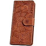 JAWSEU Funda para iPhone 6S, iPhone 6, diseño de mandala, marrón
