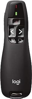 Logitech Wireless Presenter R400, Wireless Presentation Remote Clicker with 50 ft Red Laser Pointer 910-001356