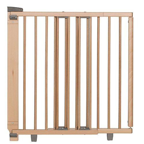 Geuther Treppenschutzgitter ausziehbar 2732+, Holz, Innen-Montage 65,5 - 105cm, Außen-Montage 58 - 93cm, Farbe: Natur, TÜV geprüft