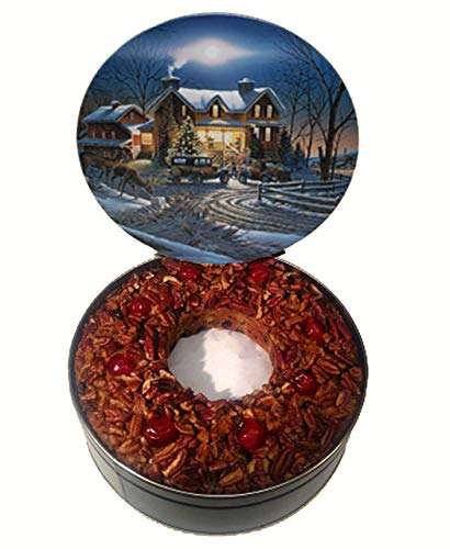 Jane Parker Classic Light Fruit Cake 5 Pound Ring (80 Ounce) Fruitcake in a Collectible Holiday Tin