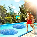 Xchenda Pool Heater Floats - Solar Sun Heater Pool Cover 4 Foot Round Above Ground Blue Protection Swimming Pool for Garden Outdoor Swimming Pool (Blue 5FT)
