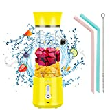 Portable Blender for Shakes and Smoothies, USB Rechargeable Vaeqozva 2021 Pro 17 Oz Bottle Large Capacity Waterproof Mini Blender, Personal Size Jucier for Travel, Home