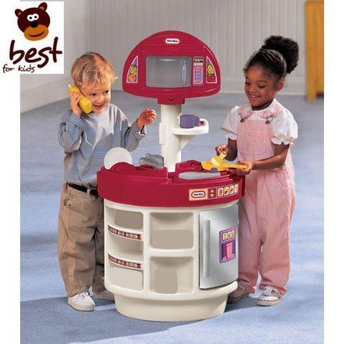 little tikes 414510060 - Elektronik Koch- und Lernspaß Küche Spielküche mit Microwelle und Telefon QUALITÄT Spielzeug + Lebensmittel Set