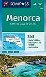 Carta escursionistica n. 243. Menorca 1:50.000: 3in1 Wanderkarte 1:50000 mit Aktiv Guide und Detailkarten bis 1:9000. Fahrradfahren.