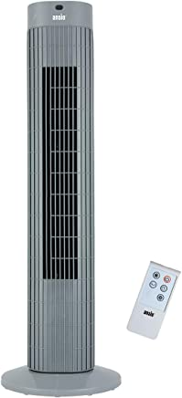ANSIO Tower Fan 30-inch with Remote For Home and Office, 7.5 Hour Timer, 3 Speed Oscillating Cooling Fan with 2 Year Warranty - Grey