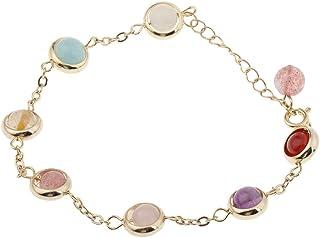 MONATI Fashion Moonstone Gemstone Charm Bangle Women Rainbow Bracelet Jewelry Gift