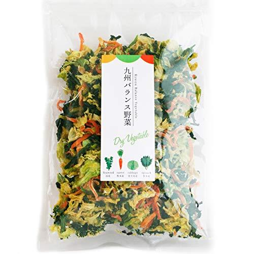 九州バランス野菜ミックス 4種 100g(約1.4kg分)【キャベツ ほうれん草 にんじん わかめ】/鹿児島 熊本 国内厳選わかめ 乾燥野菜 かんそうわかめ ドライベジ 国産 2袋セット
