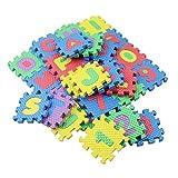 Prettygood7 Spielmatte für Kinder, Alphabet und Zahlen, 36 Stück