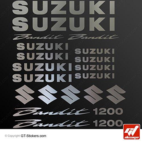 Aufkleber Suzuki Bandit 1200–Chrom–Sticker, selbstklebend, Aufkleber, gt-design