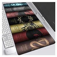 ゲーミングマウスパッド, 3ミリメートル厚のベース、ノートブック、PC、DとXXL拡張マウスマットザ・七つの大罪800X300mmマウスパッド、 (Color : D)
