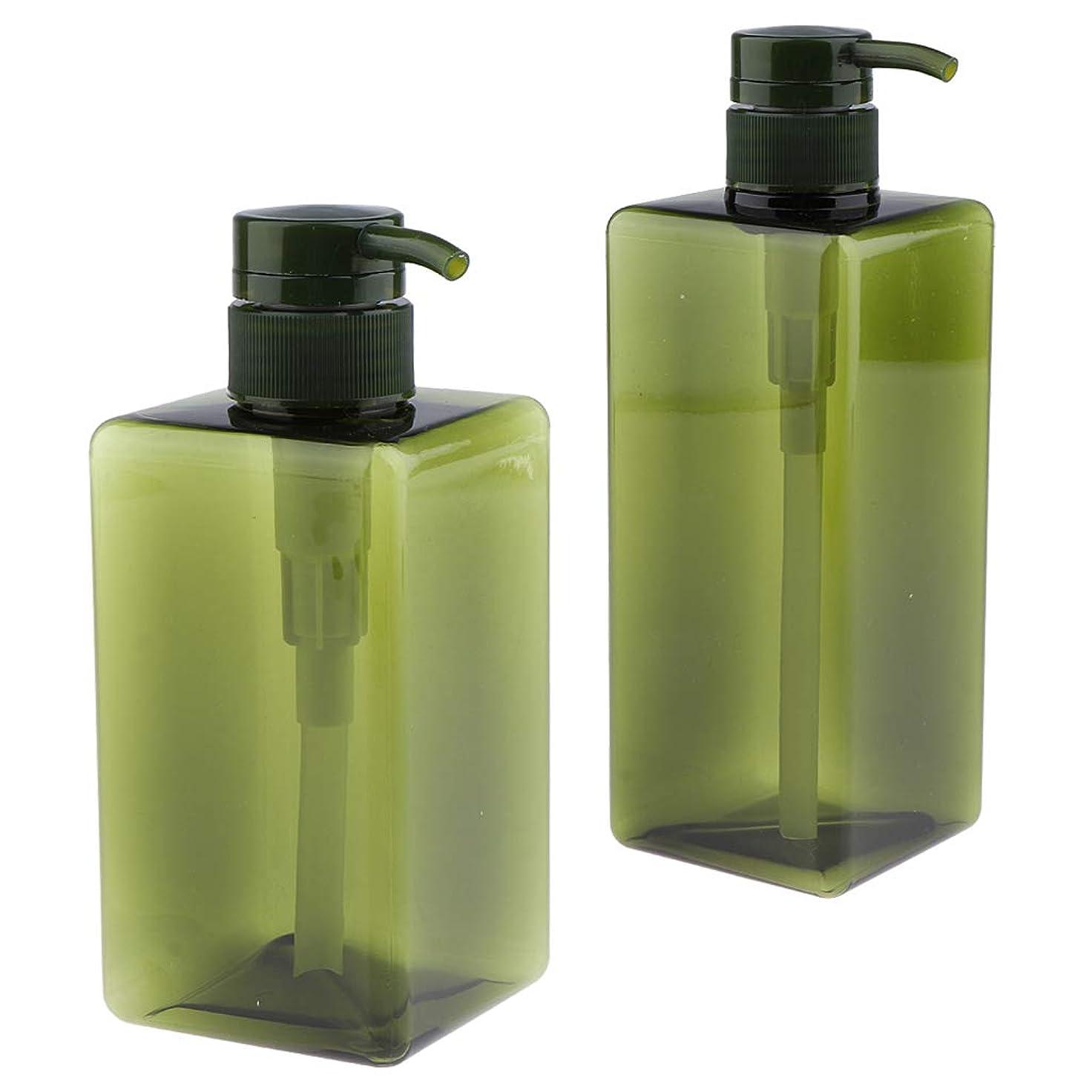核バクテリア言語学CUTICATE 2個パック シャンプー ローションポンプボトル 詰め替え容器 ソープディスペンサー 液体用ボトル