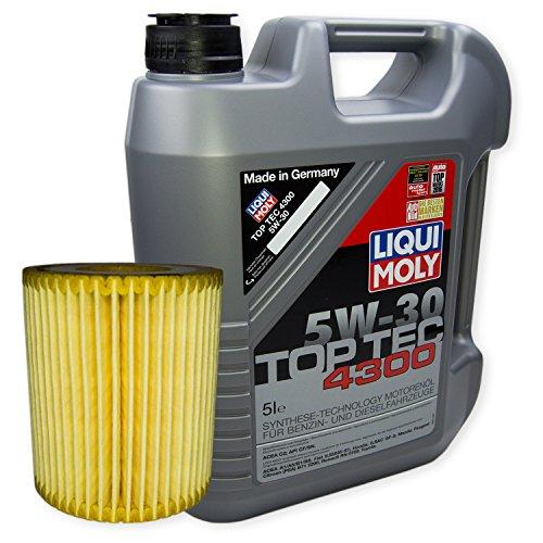 LIQUI MOLY Top Tec 4300 5W-30 3741 + MANN FILTER Ölfilter HU 711/4 x