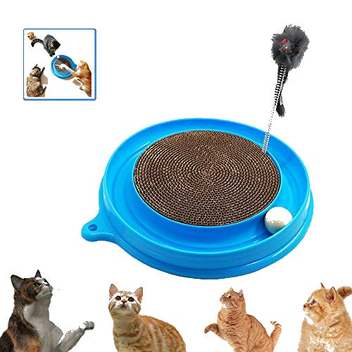 AUOON Cat Scratcher Toy, Cat Turbo Toy, Post Pad Interactive Training Exercise...