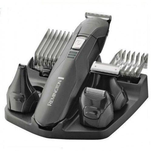 Remington Personal Groomer Edge PG6030, Stylingset für Gesichts- und Körperhaare, 4 abnehmbare Aufsteckköpfe, schwarz