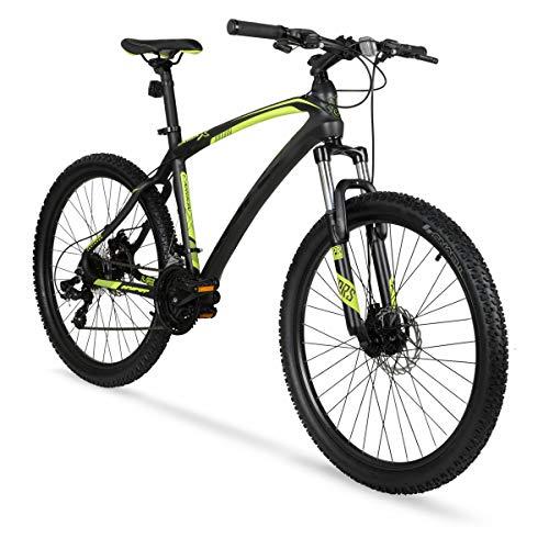 Hyper 26' Carbon Fiber Men's Mountain Bike, Black/Green