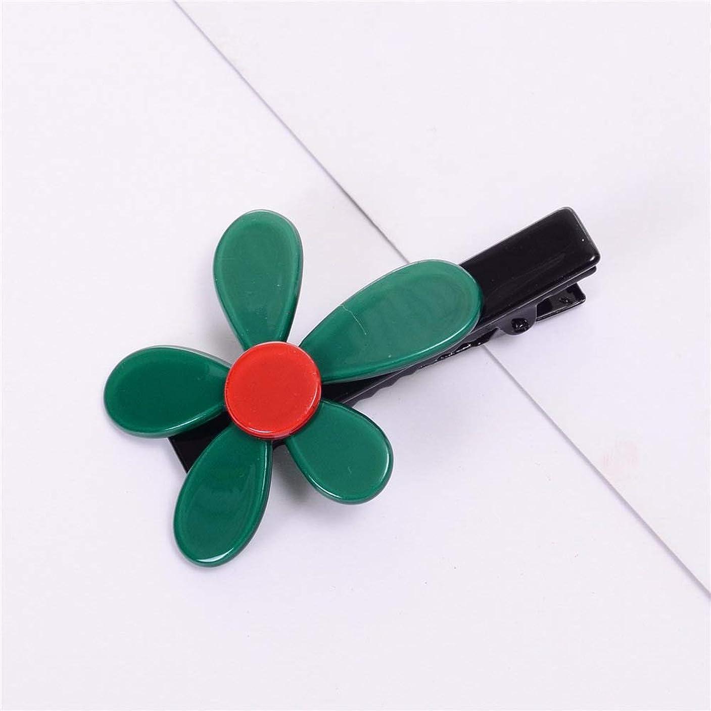時間とともに慣れる泥沼HuaQingPiJu-JP 1Pcシンプルなエレガントなフラワーヘアクリップファッションアクセサリー(グリーン)