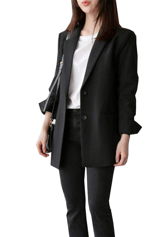 [ジャング] テーラード ジャケット レディース オフィス 通勤 長袖 ロング丈 カジュアル 大きいサイズ
