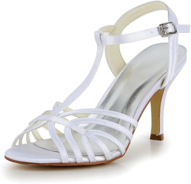 Jia Jia Women's Bridal 1416 Peep Toe Hight Heel Satin Wedding shoes