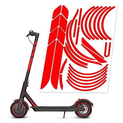 Electrico Scooter Reflectante Sticker Impermeable Pegatina, Patinete Accesorios de ProteccióN de Seguridad...