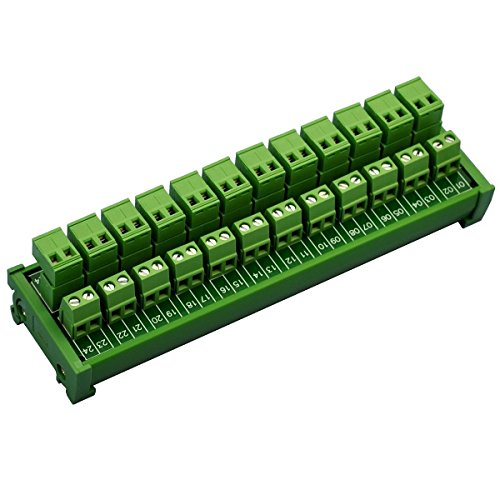 electronics-salon DIN rail Mount Pluggable 12x 2posizione 15A/300V vite morsettiera distribuzione modulo. (top cavo di connessione)