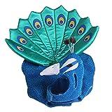 Disfraz de pavo real para mascota, lindo disfraz de pavo real azul con sombrero, sudadera con capucha de pavo real para mascotas para Halloween, vestido de fiesta de gato pequeño