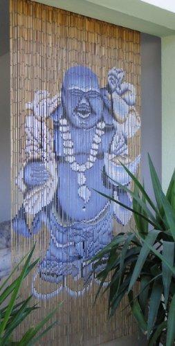 Leguana Bambusvorhang Türvorhang Dekovorhang Motiv Glücksbuddha