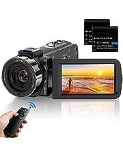 ビデオカメラ ACTITOP HD1080P 3600万画素 デジタルビデオカメラ HDビデオカメラ 16倍デジタルズーム 暗視機能 予備バッテリーあり リモコン付属 日本語システム SDカード最大128GB(別売り)