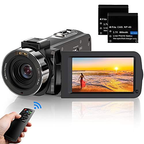 ビデオカメラ ACTITOP デジタルビデオカメラ HDビデオカメラ 3600万画素 HD1080P 16倍デジタルズーム 暗視機能 予備バッテリーあり リモコン付属 日本語システム(3051)