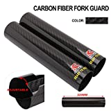 FastPro - Protector de horquilla delantera de fibra de carbono para motocicleta