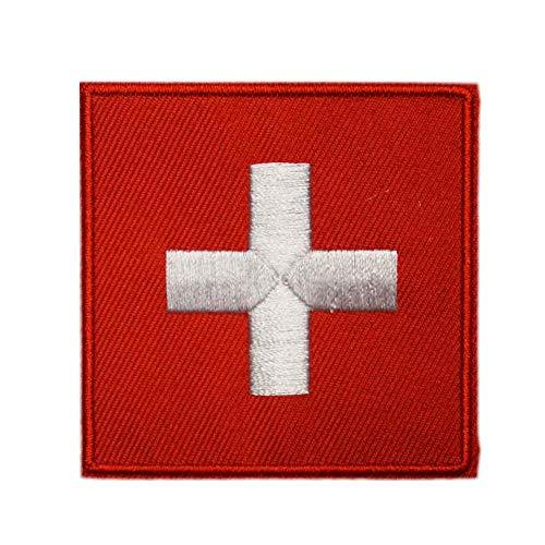 Aufnäher Schweiz Flagge Uniform gewebt zum Aufbügeln