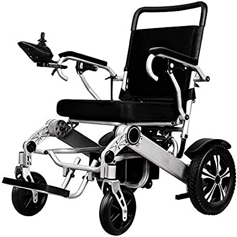 FGVDJ Silla de Ruedas eléctrica Plegable Ultraligera, aprobada por aerolínea y permitida para Viajes en avión, sillas de Ruedas eléctricas portátiles motorizadas