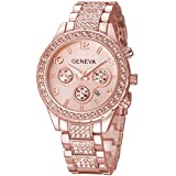 TIMEWHEEL Luxury Womens Rhinestone Quartz...