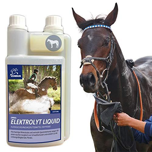 EMMA Elektrolyte Pferd flüssig I Vitamine B12 & Mineralstoffe I Natrium Salze Kalium Magnesium I nach Durchfall Fieber Kotwasser Schwitzen I Elektrolytmangel I Mineralsalze zur Regeneration Pferd 1L