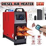 Vinteky 12V 5KW Calentador de Aire Diesel, Calentador de Combustible Calefacción Estacionaria Diesel, Calentador Coche Diesel Aire 4 Agujeros