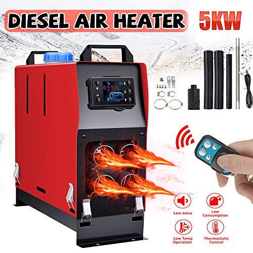 Vinteky 12V 5KW Standheizung Diesel Air Heater Heizung Luftheizung, Auto Kraftstoff Diesel Lufterhitzer Zwangsluft Standheizung Alle In 1 Integrierte Maschine, 4 Löcher