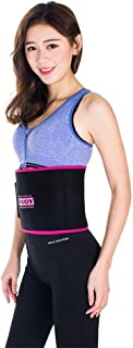 TUOY Waist Trimmer Trainer Belt for Men Women Weight Loss Free Adjustable Wrap Lumbar Support Build Abdominal Muscle Worko...