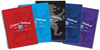 Oxford Campus A4 Notebook, Wirebound, Assorted Colours, Pack of 5