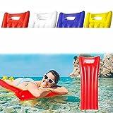 Antevia – Flotador de colchón hinchable para piscina o playa 180 x 70 cm | Más de 20 modelos | Cojín Piscina | Material: PVC | Color: Rojo (Monvar Rojo)