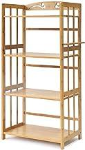 Multifunctional Kitchen Storage Rack Storage Shelf Kitchen Shelves Pot Rack Microwave Shelf Oven Utensils Frame 4-Tier Lay...
